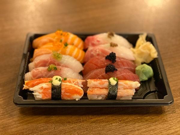 assorted 10 pieces of nigiri sushi