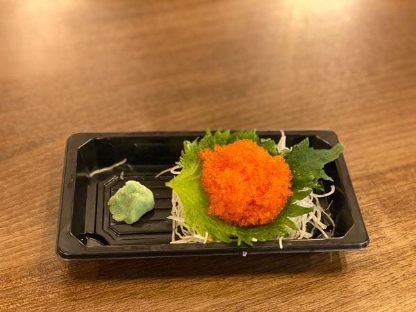 flying fish roe sashimi