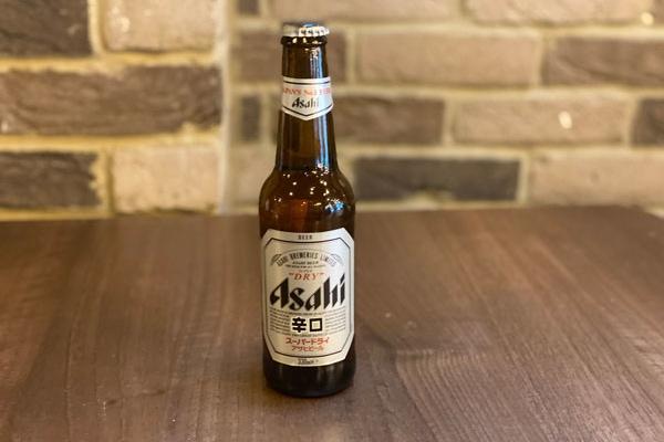asahi bottled beer